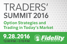 Trader's Summit 2016 Options strategies and Trading in Today's Markets