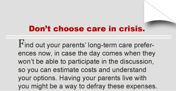Don't choose care in crisis