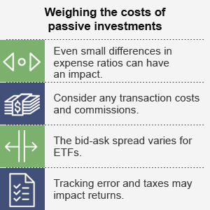 Weighing the costs of passive investments