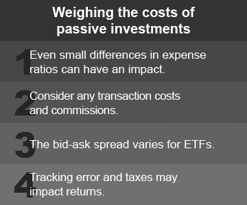 Active passive investment strategy