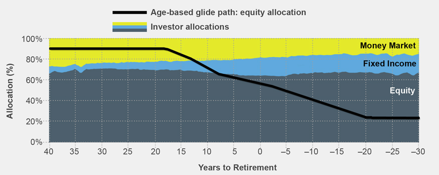 Age-based glide path: equity allocation
