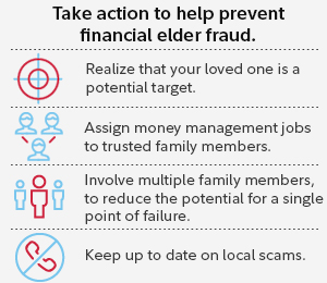Take action to help prevent financial elder fraud.
