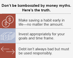 Don't be bamboozled by money myths. Here's the truth.