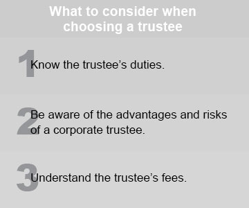 Why naming the right trustee is critical