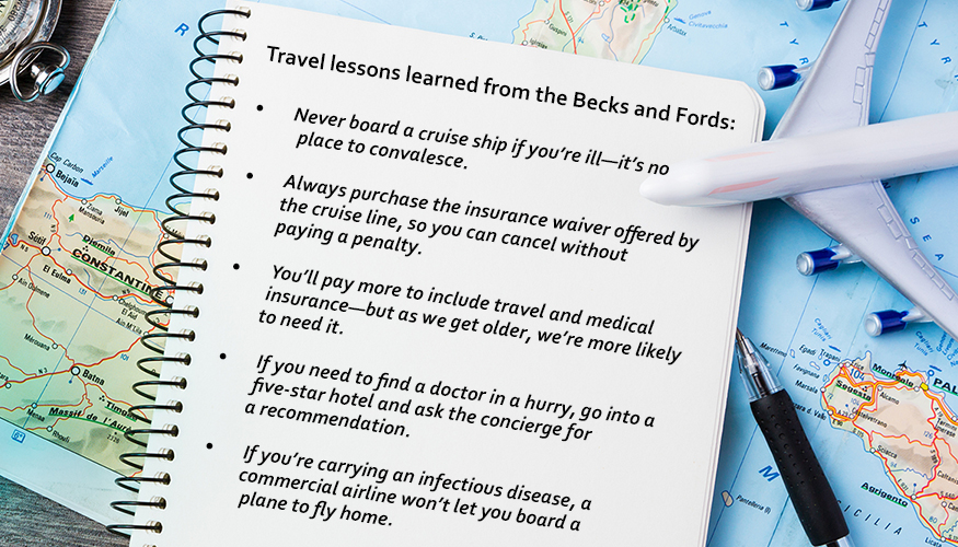Travel lessons learned from the Becks and Fords