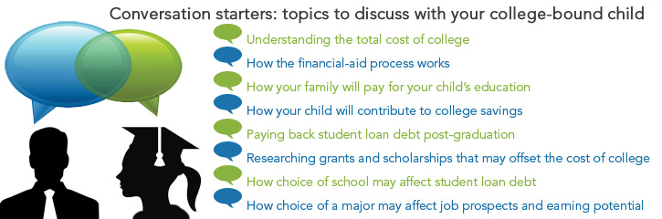 Conversation starters: topics to discuss with your college-bound child
