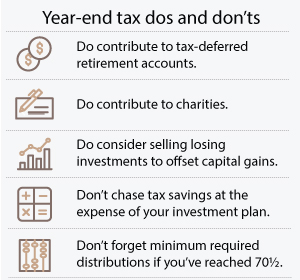 Year-end tax dos and don'ts