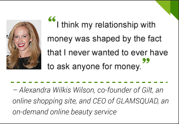 Alexandra Wilkis Wilson, co-founder of Gilt, an online shopping site, and CEO of GLAMSQUAD, an on-demand online beauty service.