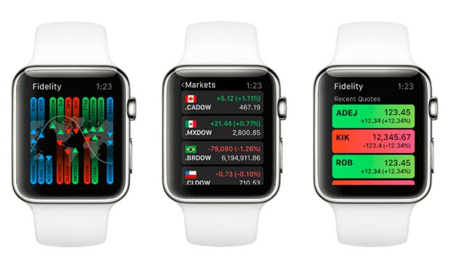 fidelity mobile for apple watch lets investors track markets with a