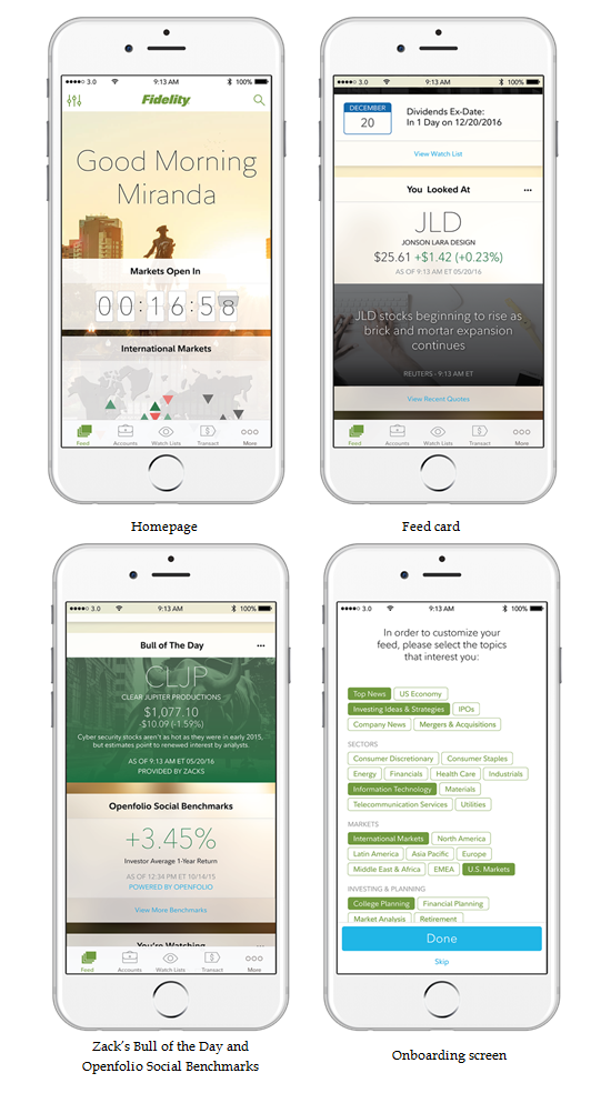Powerful Mobile Engine Drives New Fidelity App Fidelity