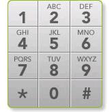 telephone keypad layout