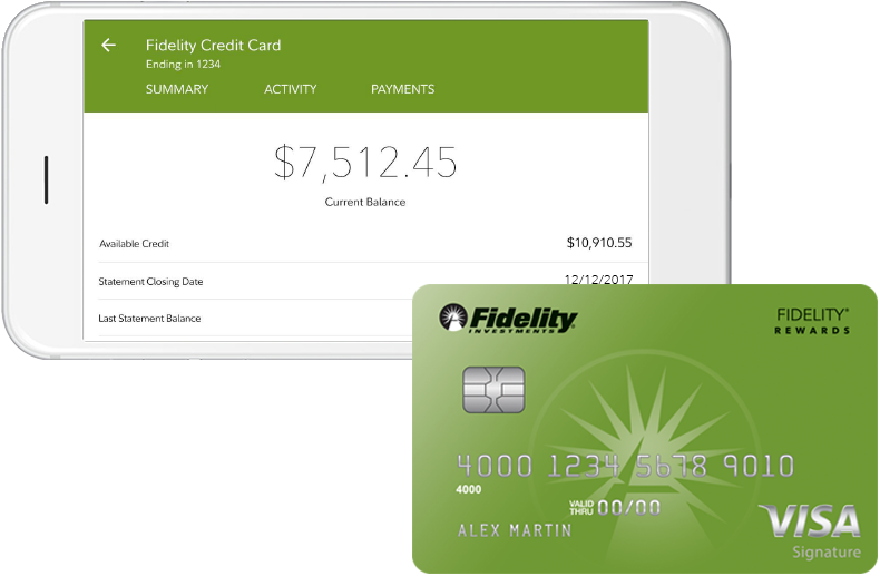mobile for visa signature credit card fidelity - Visa Credit Card Balance